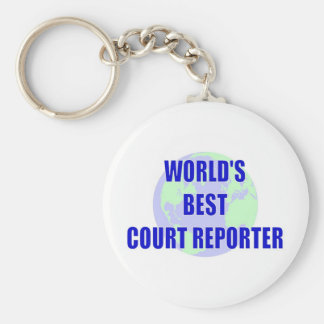 World's Best Court Reporter Key Chain