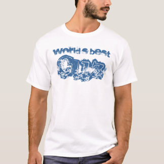 World's Best Cousin - Blue and White T-Shirt