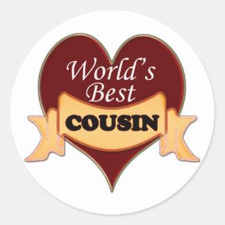 World's Best Cousin Classic Round Sticker
