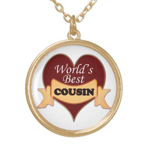 world s best cousin pendant necklace zazzle