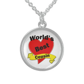 World's Best Cousin Sterling Silver Necklace