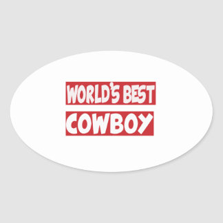 World's Best Cowboy. Sticker