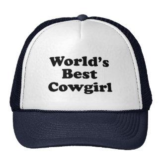 World's Best Cowgirl Trucker Hat