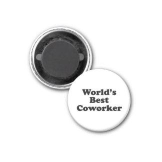 World's Best Coworker 1 Inch Round Magnet