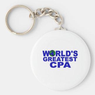 World's Best CPA Basic Round Button Keychain