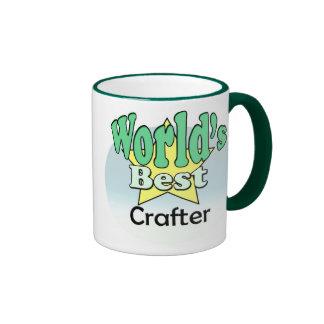 World's best Crafter Ringer Mug