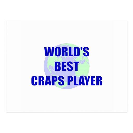 World's Best Craps Player Postcard