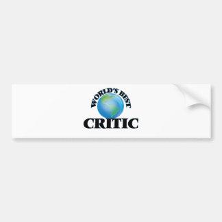 World's Best Critic Bumper Sticker