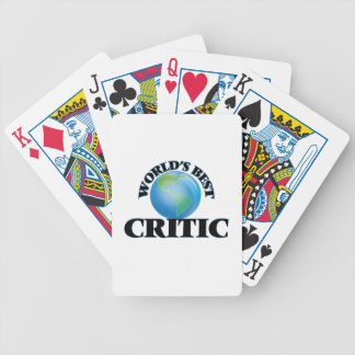 World's Best Critic Bicycle Playing Cards