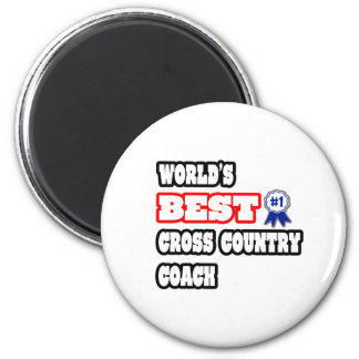 World's Best Cross Country Coach 2 Inch Round Magnet