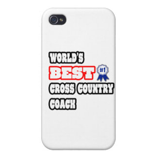 World's Best Cross Country Coach iPhone 4 Cases