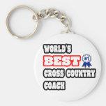 World's Best Cross Country Coach Keychain