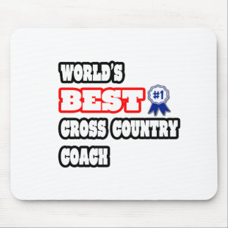 World's Best Cross Country Coach Mousepads
