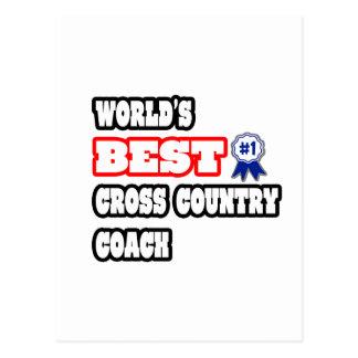 World's Best Cross Country Coach Postcard