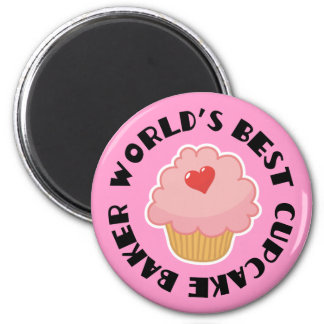 Worlds Best Cupcake Baker Cooking Gift Magnet