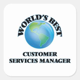 World's Best Customer Services Manager Sticker