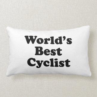World's Best Cyclist Throw Pillow