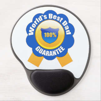 World's Best Dad 100% Guarantee Gel Mouse Pad