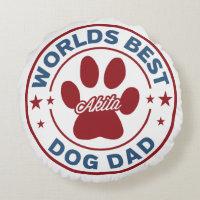 Worlds Best Dad Akita Paw Print