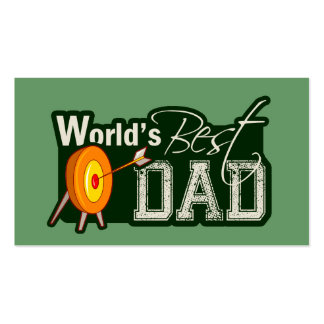 World's Best Dad; Archery Double-Sided Standard Business Cards (Pack Of 100)