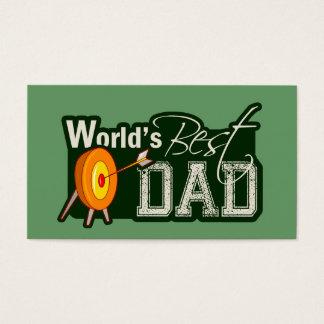 World's Best Dad; Archery Business Card