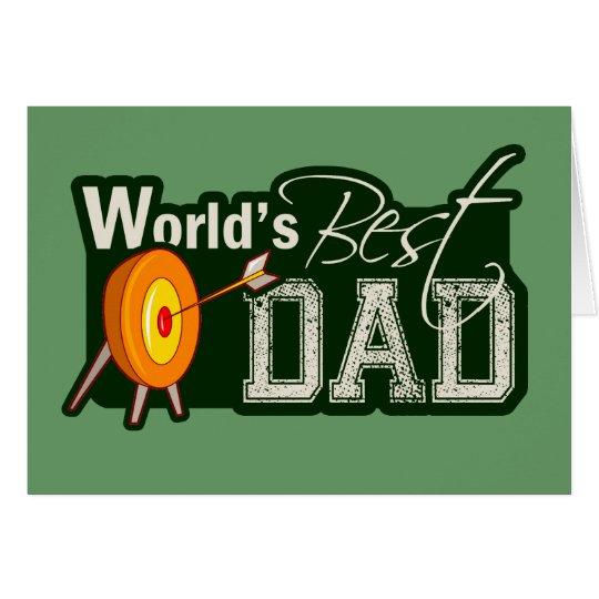 World's Best Dad; Archery Card