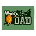 World's Best Dad; Archery Greeting Cards