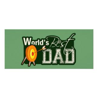World's Best Dad; Archery Rack Card