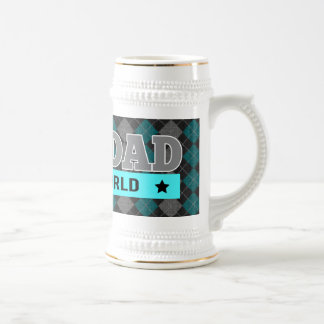 World's Best Dad Argyle Patterned Father's Day Beer Stein