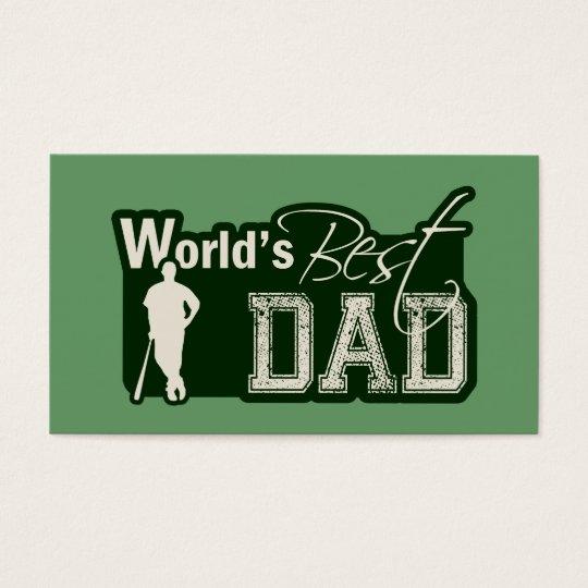 World's Best Dad; Baseball Business Card