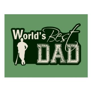 World's Best Dad; Baseball Postcard
