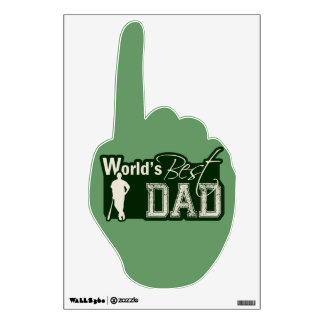 World's Best Dad; Baseball Wall Sticker