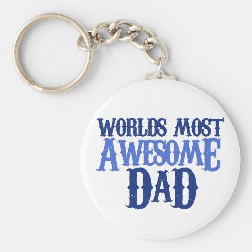 Worlds Best Dad Basic Round Button Keychain