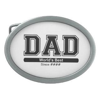 World's Best Dad Belt Buckle