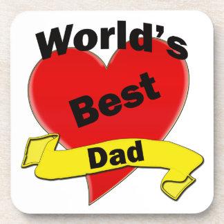 World's Best Dad Beverage Coaster