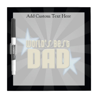 World's Best Dad Black/Gold Cool Father's Day Dry-Erase Board