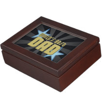 World's Best Dad Black/Gold Cool Father's Day Keepsake Box