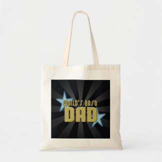 World's Best Dad Black/Gold Cool Father's Day Tote Bag
