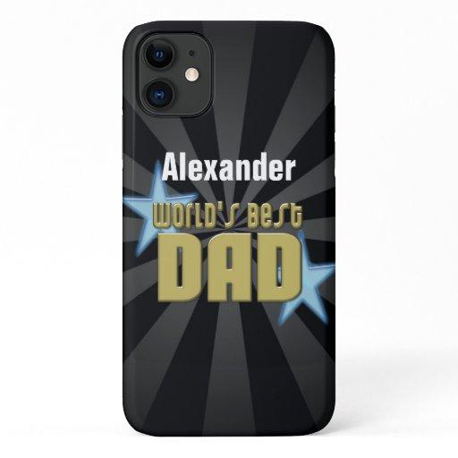World's Best Dad, Blue Stars iPhone 11 Case