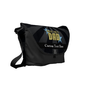 World's Best Dad, Blue Stars Messenger Bag