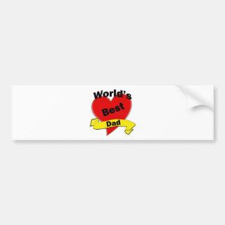 World's Best Dad Bumper Sticker