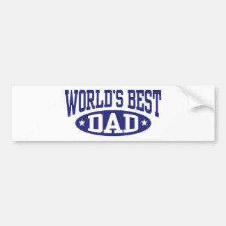 World's Best Dad Bumper Sticker
