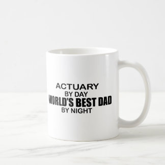 World's Best Dad by Night - Actuary Coffee Mug