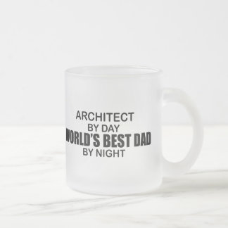 World's Best Dad by Night - Architect Frosted Glass Coffee Mug