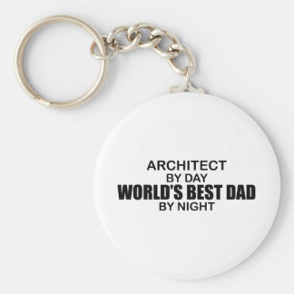 World's Best Dad by Night - Architect Key Chains