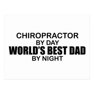 World's Best Dad by Night - Chiropractor Postcard