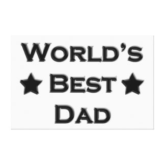 World's Best Dad Canvas Prints