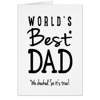 World's Best Dad Cards