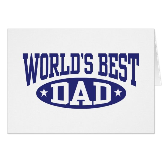 World's Best Dad Card