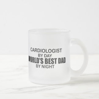 World's Best Dad - Cardiologist Frosted Glass Coffee Mug